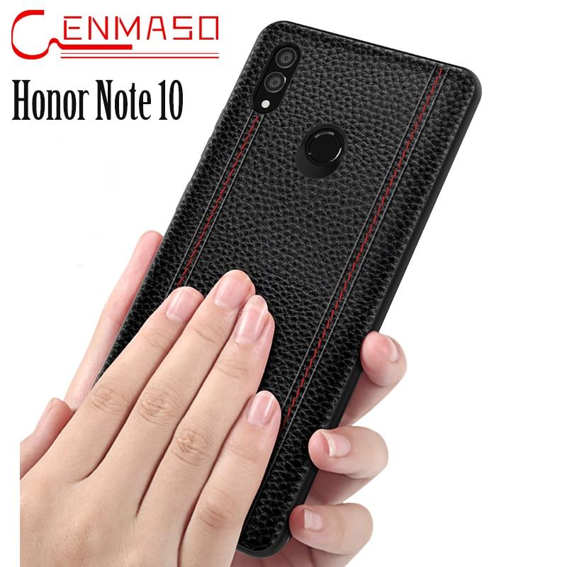 Vintage Cassa Del Cuoio Genuino Huawei Honor Nota 10 Caso Della Copertura Posteriore di Modo di Affari Capa Honor Nota 10 Protezione Completa Funda