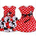 Verão de 2016 Meninas Vestido Tutu Vestido de Princesa roupas de Bebê Minnie Mouse Vestido Dot Vestido da menina Casual Vestido de Festa para meninas