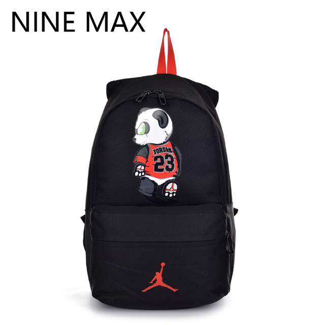 a9800058841e High Quality 23 Unisex Canvas Backpack Utility Lovers Bag Mochilas Laptop  Rucksack AJ Panda Fashion School