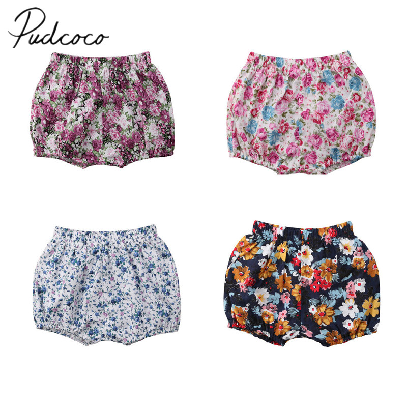 2018 Brand New Toddler Infant Kids Baby Girls Floral Printed Cotton   Shorts   Bottoms Flower Chidren Summer   Shorts   Wholesale