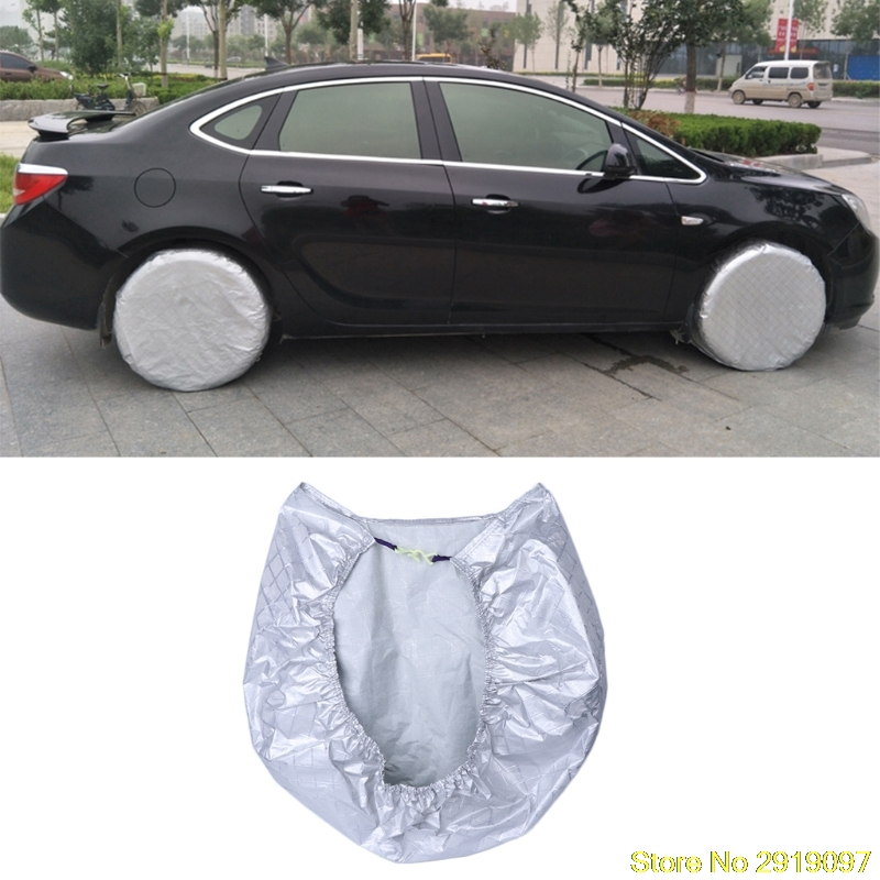New Tire Cover Waterproof Aluminum Film Sun Protectors Anti-Explosion 27 to 29 For Use On RV Trailers Campers Cars