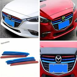 Lapetus Tricolo Front Center Grille Grill Strip Cover Trim Fit For Mazda 3 AXELA Sedan Hatchback 2017 2018 Accessories Exterior