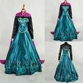 Nuevo estilo de la princesa anna dress capa traje cosplay para adultos dress olaf muñeco de nieve nueva halloween