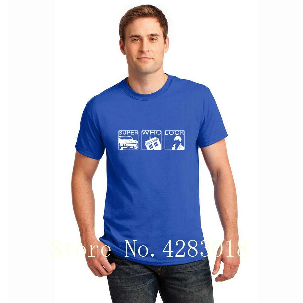 Odcinek nie z tego świata lekarz, który Sherlock T koszula z krótkim rękawem niestandardowe szalony męska koszulka światło słoneczne Hombre rozmiar S-3xl wyposażone Pop Top tee
