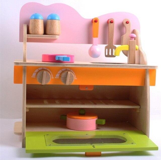 Merveilleux Baby Toys Play Food Kitchen Set Wooden Toys For Children Kids Environmental  Health Kitchenette Education Christmas