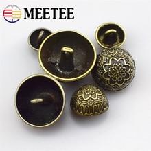 Metal bronze button, mushroom head, vintage dress, mens coat, nickel button
