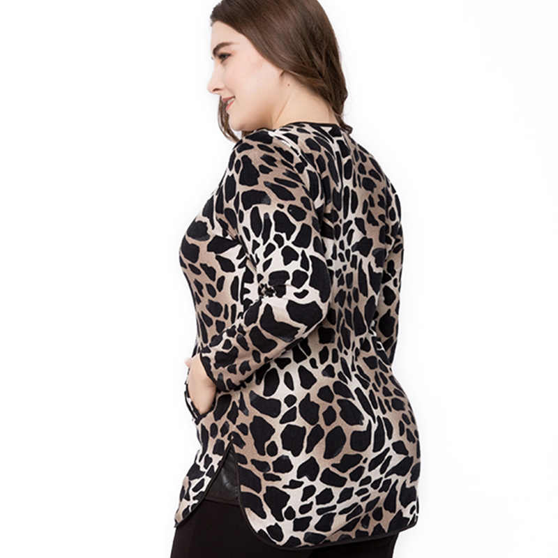 95d67de5ea ... Miaoke plus size long sleeve t-shirt women clothing 2018 autumn new fashion  animal print ...
