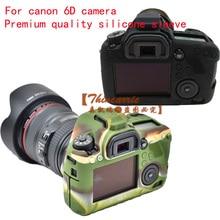 Приятно Sofe Силикон Резиновый Защитный Корпус Камеры Крышка Случая Кожи для Canon EOS 6D Камеры Мешок Камуфляж Черный