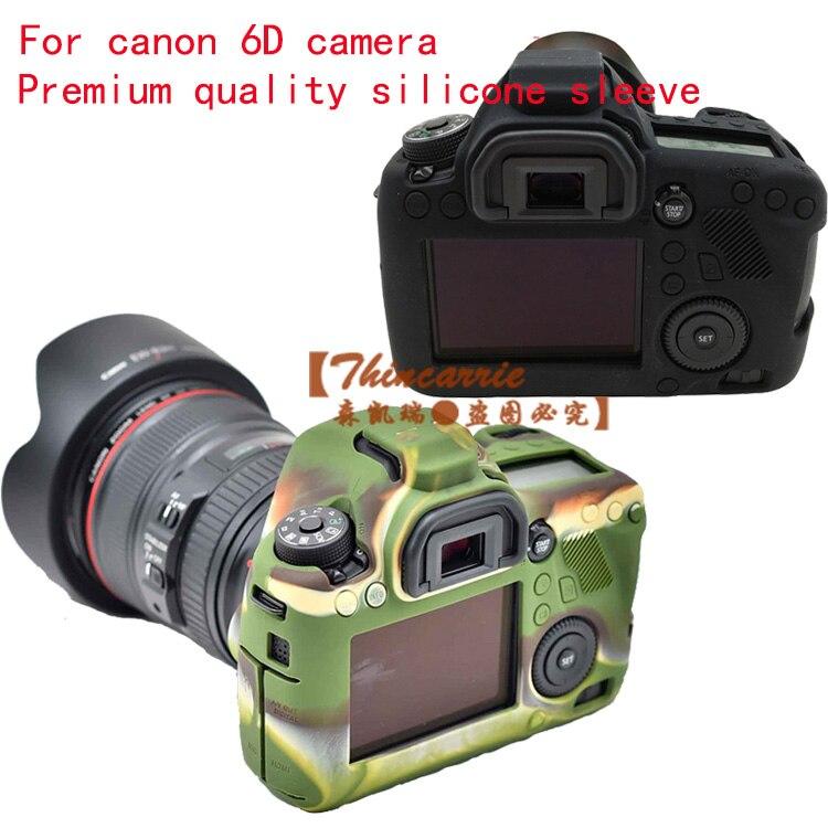 Nice Sofe Silicone Rubber Protective Camera Body Cover Case Skin for Canon EOS 6D Camera Bag