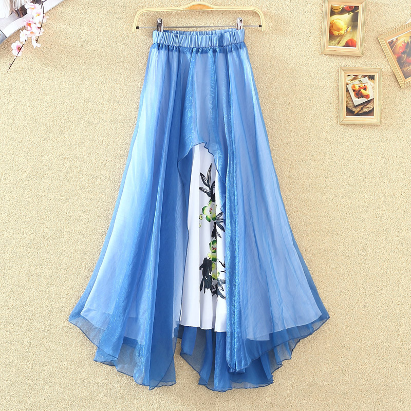 get cheap chiffon pleated maxi skirt aliexpress