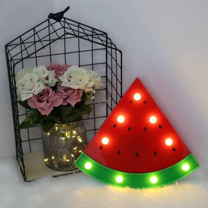 3D Watermelon Shape Night Light Home Bedroom Night Lighting  Indoor Decorate Fashion LED Children Lamp For Birthday Gift