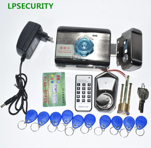 Image 5 - LPSECURITY 2 or 10 tags Door & gate lock castle Access Control Electronic integrated RFID Door Rim lock RFID reader for intercom