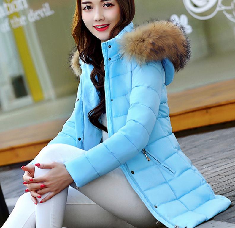 Envoyer Noir Coréenne Femmes Coton 2018 D'hiver kaki Version Longueur Manteau rembourré rouge Moyen Épaississement; Vêtements Livraison rose gris Ciel pu De Marée pZnxxw5O