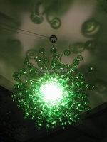 100% Hand Blown Dale Chihuly Lâmpada Cogumelo Verde Lustre De Vidro Itália|italy chandelier|dale chihuly|chandelier chandelier -