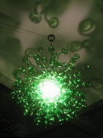 100% Hand Blown Dale Chihuly Lamp Green Mushroom Glass Italy Chandelier