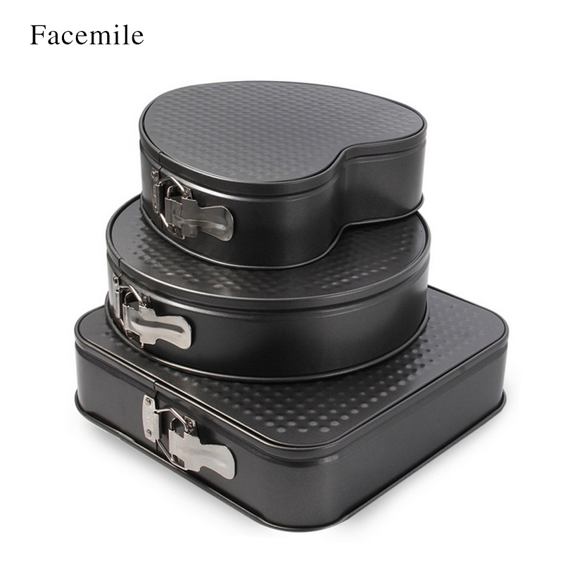 3PCS Non-Stick Bakeware Cake Pan Mold Baking Tools With Removable - Kitchen, Dining and Bar - Photo 3
