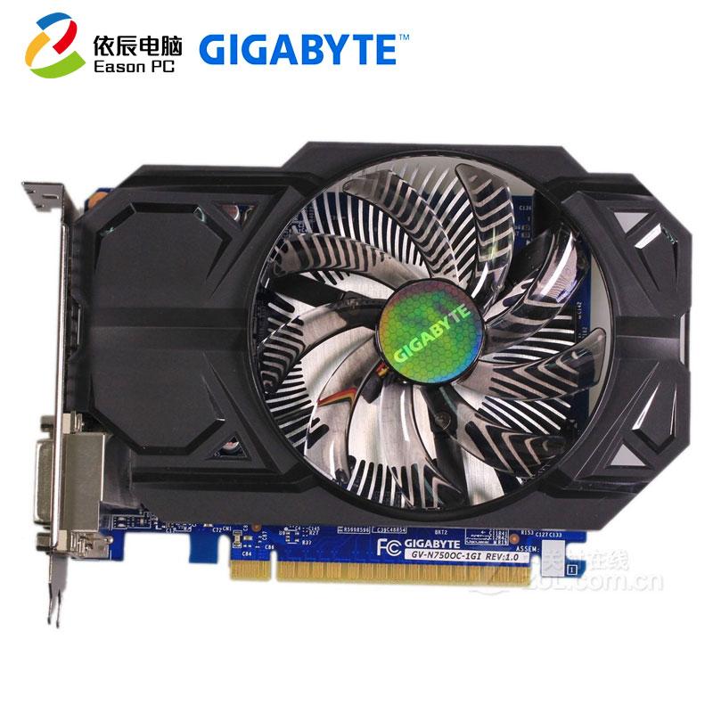 Gigabyte GV-N750OC-1GI cartes graphiques 128 bits GTX 750 1G GDDR5 carte vidéo 2 * DVI 2 * HDMI pour Nvidia Geforce GTX750
