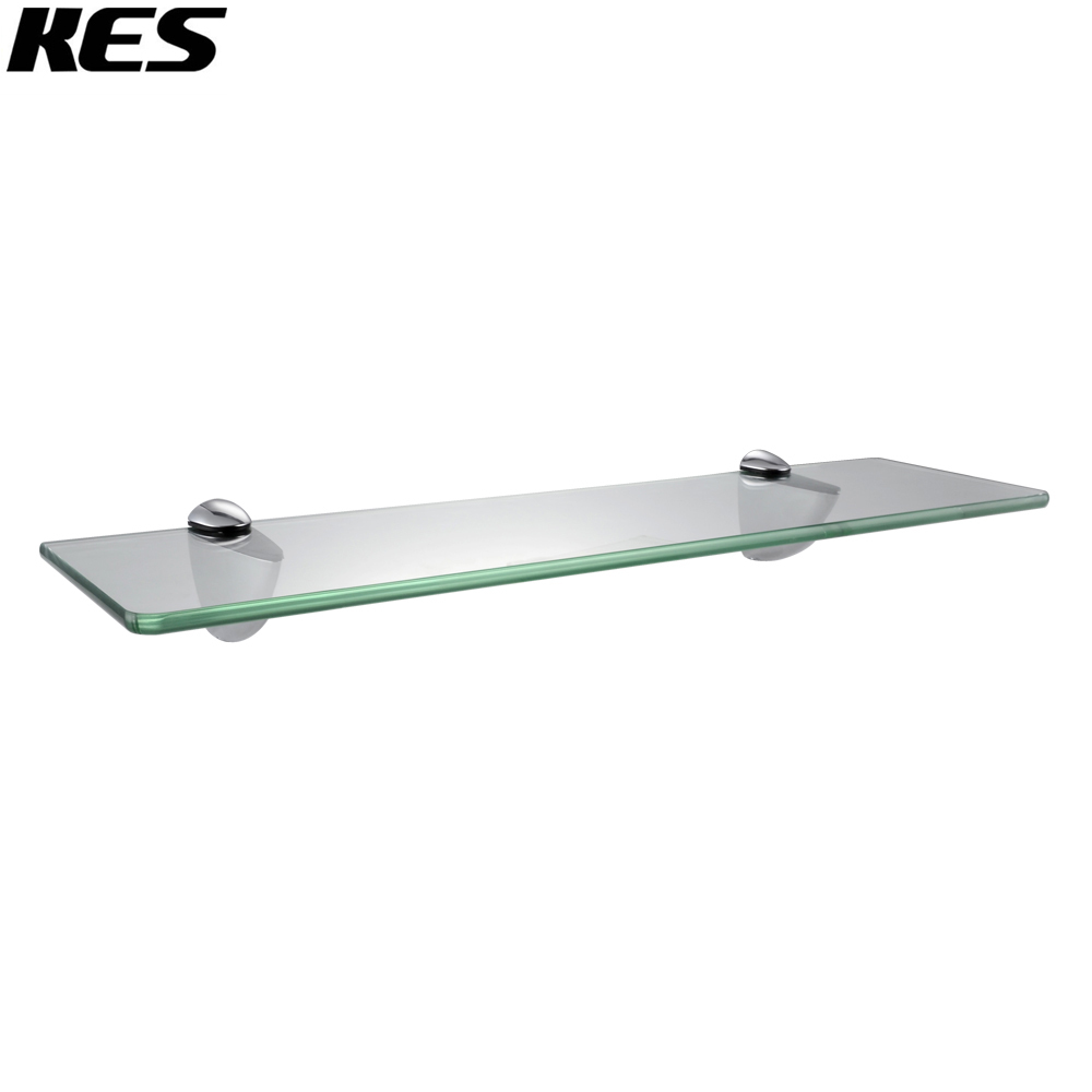 KES BGS3200 Lavatory Bathroom Tempered Glass Shelf 8MM Thick Wall ...