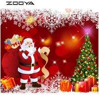 ZOOYA Diamond Painting 3D DIY Diamond Embroidery Christmas Diamond Mosaic Sale Santa Claus Presents Gift Cross