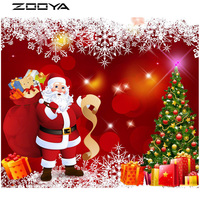 ZOOYA Diamond Painting 3D DIY Diamond Embroidery Christmas Diamond Mosaic Sale Santa Claus Presents Gift Cross