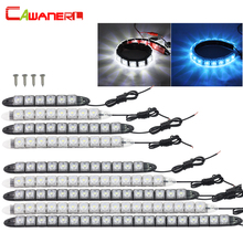 Cawanerl Car Daytime Running Light DRL Auto Flexible LED Strip Driving Light Car Styling Daylight Fog