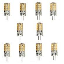 HRSOD 10 X G4 3W 24 SMD 2835 270 LM  2800-3500/6000-6500 K Warm White/Cool White Spot Lights Bi-pin DC 12 V