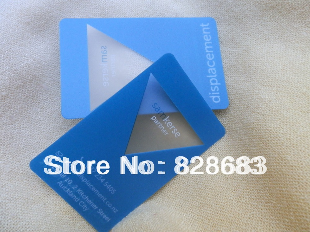 High Quality transparent pvc business card membership card greeting ...