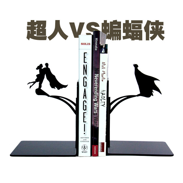 2pcs Set Superman Batman Bookshelf American Movie Character Creative Book Stand Study Room Personality Decoration In Statues Sculptures From Home Garden
