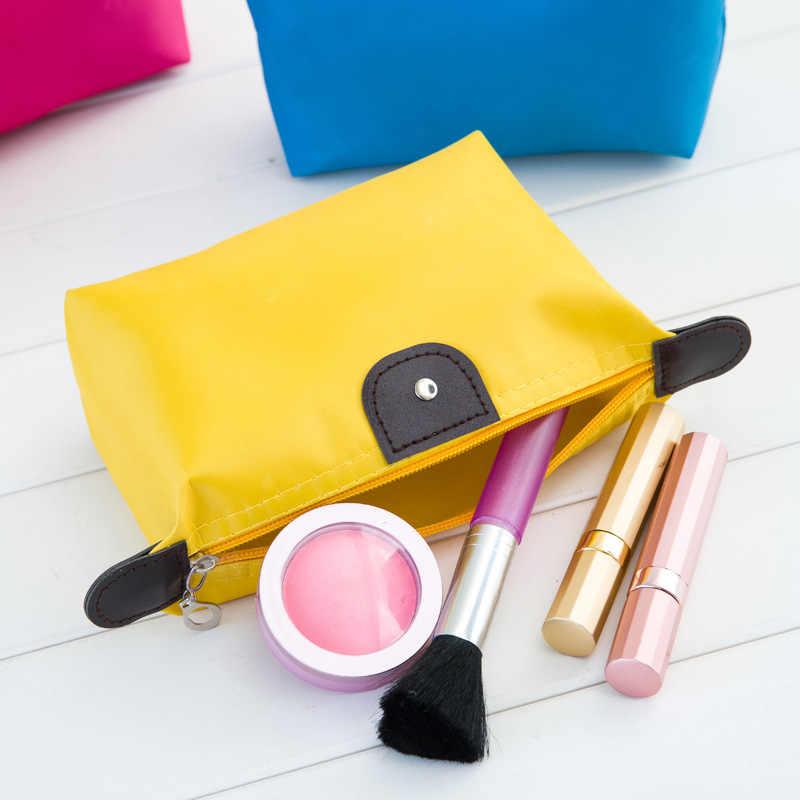 Горячая распродажа женский косметический мешок для макияжа клатч туалетные принадлежности для путешествий комплект украшений Органайзер Повседневный водонепроницаемый кошелек на молнии
