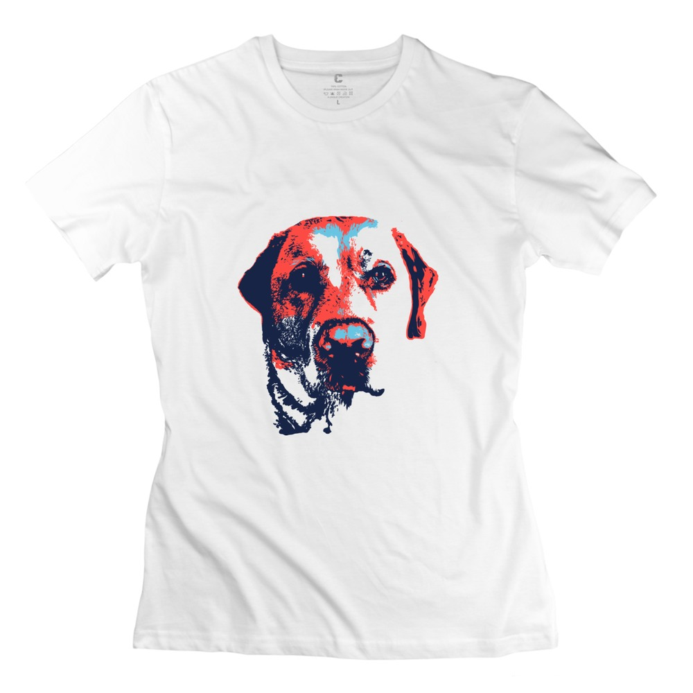 Cheap round neck patriotic labrador women t shirt printed for Print t shirt cheap