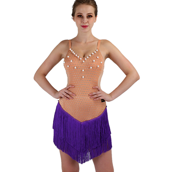 fringe latin dance dress women for competition Sexy tango latin dress for girls dancing dress for women Custom color size