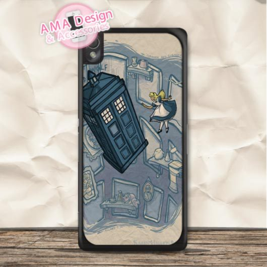 Alice Adventure In Doctor Who Case For Sony Xperia Z5 Z4 Z3 Z2 Z1 compact Z C3 C T3 T2 E4 SP M4 M2