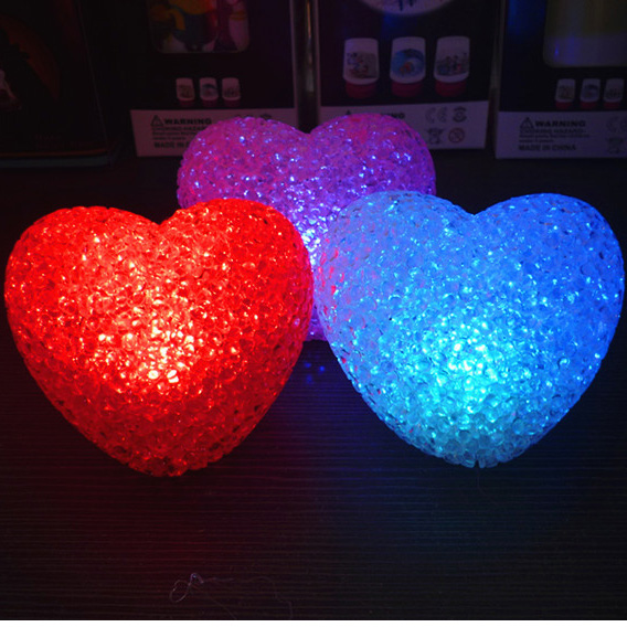 1PCS A New Crystal Heart Shaped Night Light Colorful Night Lamp Electronic  Gifts Childrenu0027s Beds In LED Night Lights From Lights U0026 Lighting On ...