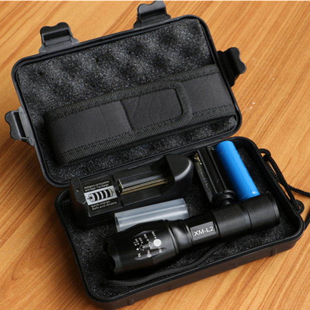 LED flashlight Tactical Flashlight 8000Lumens CREE XM-T6/L2 Zoomable 5 Modes aluminum Lanterna LED Torch Flashlights For Camping