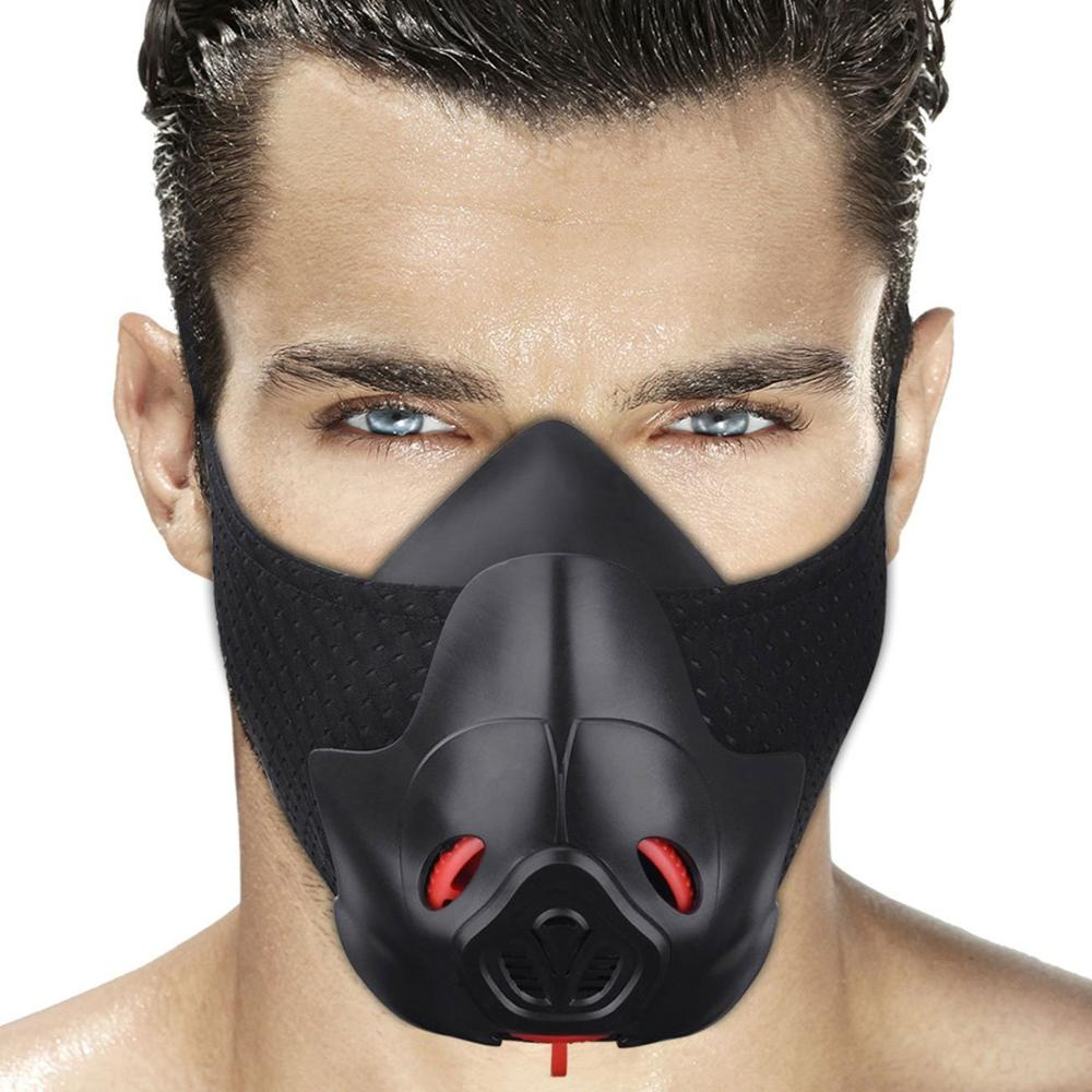 Friorange Sports Black Mask Fitness Cycling Exercise Running Anaerobic Endurance Mask Fitness Training Sports Mask