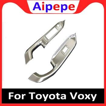 Для Toyota Voxy Noah R80 2014-2017 2018 оконный подъемник управление оконный переключатель украшение подлокотник панель накладка автомобильные аксессуар...