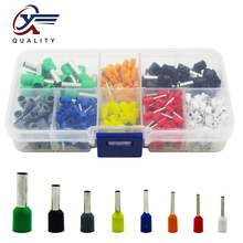 цена на 400pcs/box AWG 22 - 10 Insulated Cord Pin End Terminal Ferrules Kit Set Wire Copper Crimp Connector Electrical Crimp Terminator