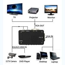 RCA Composite AV S-Video to VGA Converter Box CCTV DVR PC Laptop to TV Projector VGA Input to VGA Output Video Converter Adapt