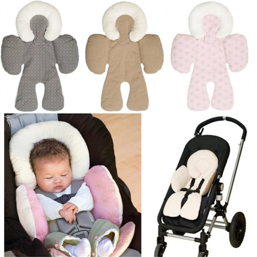 1pcs Baby JJ Cole Collections Body Support Fleece Infant Pillow Car Seat Insert Protection Covers Cushion In Automobiles