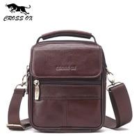 CROSS OX Genuine Leather Handbag Men Shoulder Bag Business Flap Bag Cow Leather Small Bag SL430M