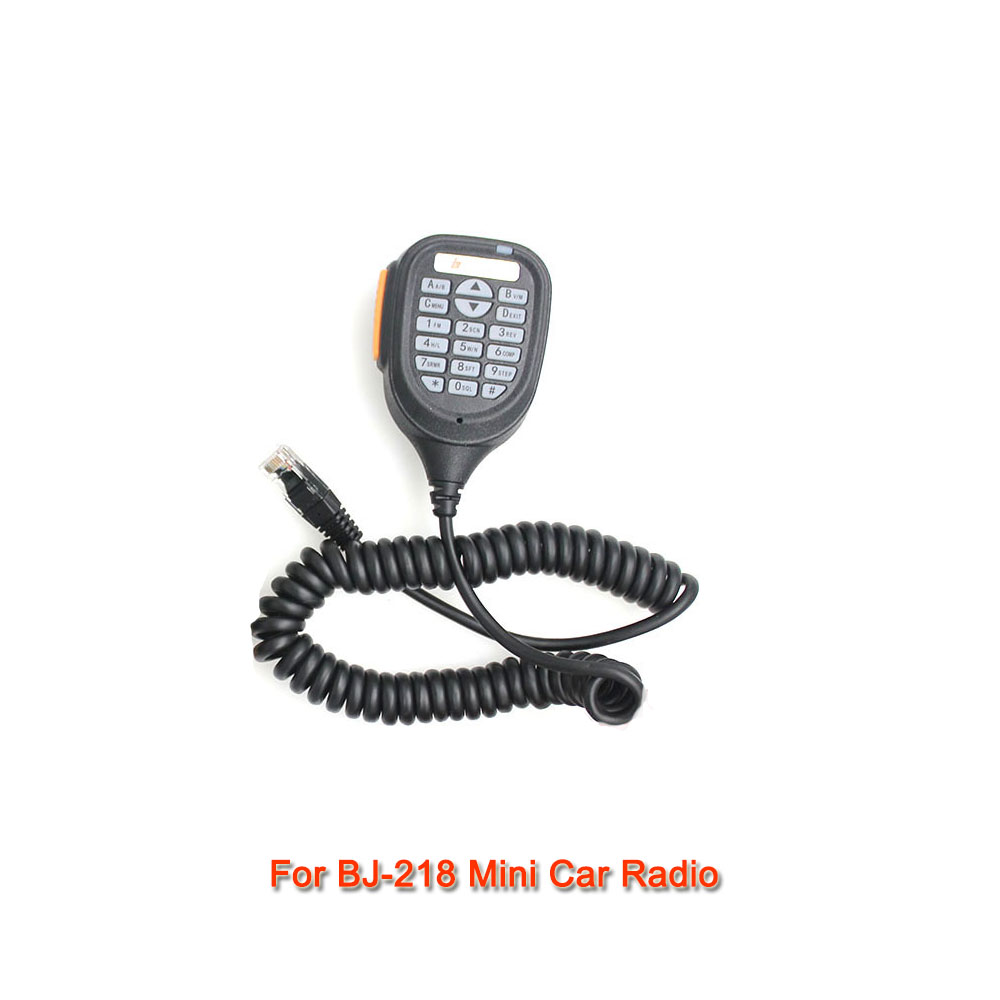 Baojie BJ-218 Speaker Mic Microphone For Baojie BJ-218 25W Dual Band Mini Mobile Radio Car Two Way Radio Walkie Talkie