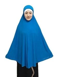 Image 2 - قبعة مسلمة طويلة عصرية للحجاب قطعة واحدة سادة كبيرة الحجم حوالي 130 سنتيمتر من الخلف