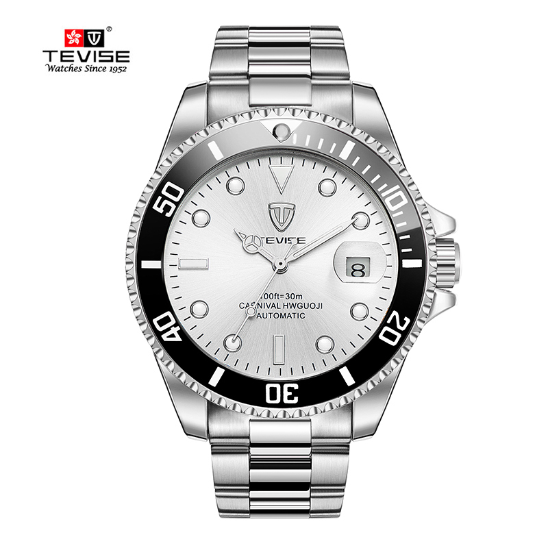 TEVISE Relogio Masculino Luxury Brand Steel Automatic Mechanical Men Watch High Quality waterproof calendar watches outad automatic mechanical watches classic hollow steel watch band luxury high quality fashion men male relogio masculino 2017