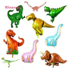 8-Season Summer Jungle Party Dinosaur Foil Balloon Boys Animal Balloons Boy or Girl Festival Gift Birthday Toys