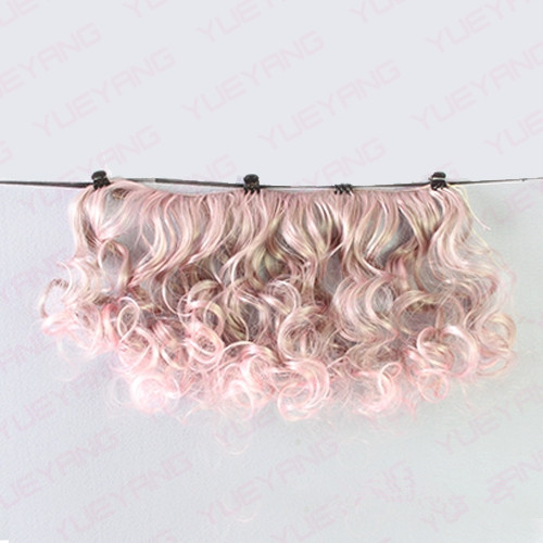 7Pcss / lot NYHET 15CM * 100CM Fasjonable BJD SD DIY Curly Parykker - Dukker og tilbehør - Bilde 5