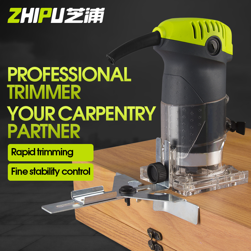 ZHIPU Trimming Machine Woodworking Power Tools Multi-function Home Decoration Engraving Wood Milling DIY High Slot Machine electric woodworking trimming machine sl 1069 multi function engraving machine aluminum body trimmer 220v 50hz 350w 3000r min