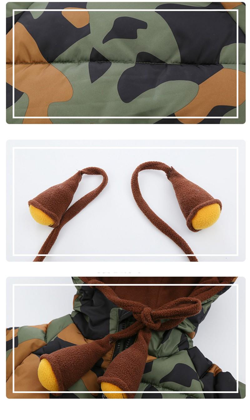 CROAL CHERIE 80-120cm Children`s Winter Jackets For Teenage Girls Warm Winter Parkas For Boys Camouflage Infant Overcoat (7)