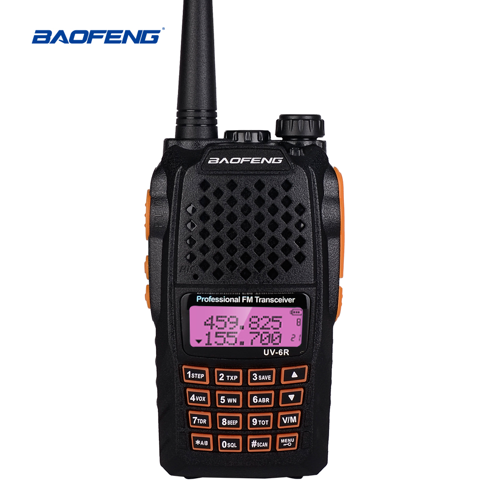 Baofeng UV6R talkie-walkie 5 W Radio UHF VHF double bande 128CH CB Radio Portable émetteur-récepteur Radio HF bidirectionnel pour la chasse