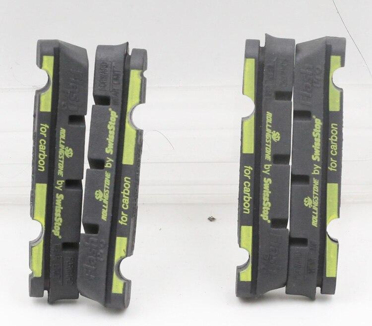 Swissstop Flash Pro Black Prince Carbon Rim Brake Pad Inserts x 4 Black no original box