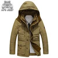 冬のフード付き男性ジャケット